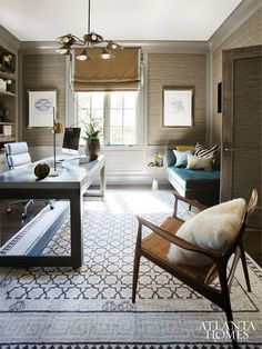 Interior Designer Portfolio by Brian Watford Interiors – Dering Hall – Modern Home Office Design Home Office Design, Home Office Decor, Home Decor, Office Ideas, Office Furniture, Office Designs, Wooden Furniture, Furniture Ideas, Contemporary Home Offices
