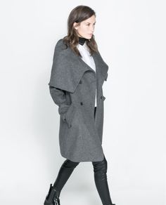 WOLLEN WRAPAROUND COAT Ref. 7901/229 Zara 159.00 USD