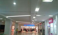 Gergi tavan aydınlatma çalışmalarımız. Özyurtlar shopping center, stretch ceiling lighting our work.