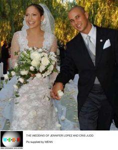 Actress/Singer Jennifer Lopez was married to back-up dancer Cris Judd September 29, 2001 to June 2002.