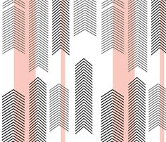 pink chevron stripe fabric by cristinapires on Spoonflower - custom fabric
