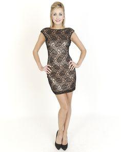 Black Dresses - Open Back Lace Black Dress - http://www.blackdresses.co.uk