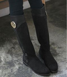 pictures of riding boots flat | ... -Knee-High-Leather-Style-Flat-Low-Heel-Biker-Riding-Boots-shoes.jpg