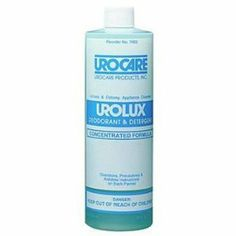 Urolux Aplnce Clnsr 16 Oz by Urocare. $18.87. Urolux Appliance CleanerUrocare Products. Size:16oz concentrate,. (SOLD BY BOTTLE 16/OZ) 700216-12, Urolux Appliance Cleanser & Deo, 16Oz. Recommended for cleaning latex or rubber urinary leg bags, male urinal sheaths, night drain bottles, urinary drainage and extension tubing; or any other reusable urinary or ostomy appliance. Concentrated solution is specifically formulated to clean and deodorize rubber, latex or plastic urinary ...