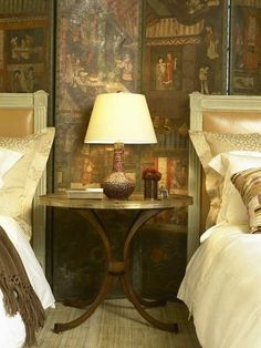 Nancy Koltes Linens in The Penthouse Suite of The Lowell Hotel - designed by Michael S. Smith