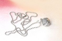 prayer box silver pendant wish box locket jewelry by PYKNIC2
