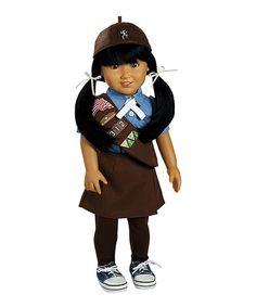 Another great find on #zulily! Jasmine Girl Scout Brownie 18'' Doll #zulilyfinds $44.99