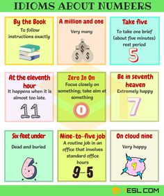 Idioms using Numbers