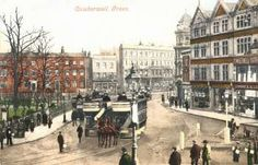 This handcoloured postcard of Camberwell Green dating back to 1903 demonstrates that the area has retained much of its early charm. The Green is part of the crossroads junction of Camberwell Church Street, Camberwell Road, Camberwell New Road and Denmark Hill.  This view, looking east towards Church Street, reinforces its status as an important public transport hub - something else that hasn't changed.