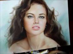 Portrait in technique dry brush