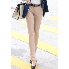 Fashionable Slim Fit OL Style Khaki Women's Pants, KHAKI, M in Pants & Shorts   DressLily.com