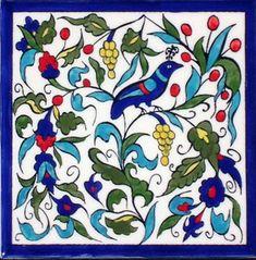 Armenian Tiles from Jerusalem ༺JS༻ Ceramic Wall Tiles, Tile Art, Mosaic Tiles, Ceramic Art, Turkish Tiles, Turkish Art, Armenian Culture, Islamic Patterns, Arabic Design