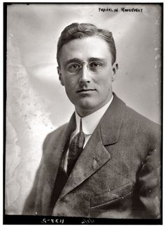 Franklin Delano Roosevelt (b1882 - d1945). In office: 1933 - 1945 (Democrat). FDR is the only US president to serve more than 2 terms in office (he died at the beginning of term 4). In this 1911 portrait, FDR was 29.