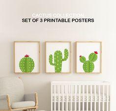 Affiches À IMPRIMER  Set de 3  Collection Cactus