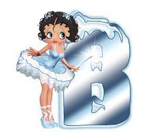 Alfabeto invernal de Betty Boop. | Oh my Alfabetos!