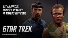 WELCOME, Star Trek fans! Loot Crate is delighted to continue to boldly go with Star Trek in this month's crate, offering an official licensed item as part of our VS. theme for March! Sign up NOW, and use the code STARTREK to save $3 on your first crate!  Celebrate Star Trek's 50th Anniversary September 8, 2016!