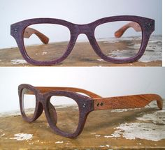 handmade wooden and puce acetate glasses / wood by SpectatorFrames, $220.00