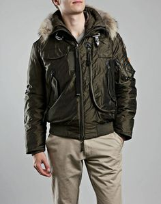 High Quality Parajumpers Gobi Bomber Jacket Mens Green