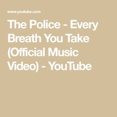 The Police - Every Breath You Take Take Video, Music Icon, You Take, My Favorite Music, Breathe, Music Videos, Police, Songs, Wedding