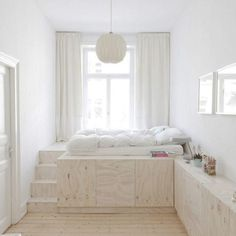 Best elegant small bedroom design ideas with stylish, art touching, and clean design. Small bedroom is best choice for your home with small space. Small Apartments, Small Spaces, Studio Apartments, Small Small, Kid Spaces, Home Bedroom, Bedroom Decor, Master Bedroom, Bedroom Small