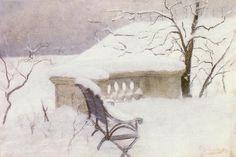 """Winter in Hamburg"" by Frits Thaulow"