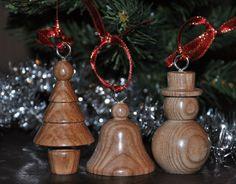 bois fait à la main décorations de Noël