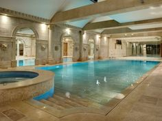 An Indoor Swimming Pool And Functional Floor Space