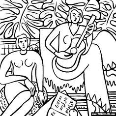 Henri Matisse - La Musique Coloring Page