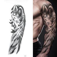 Tatoo Angel, Angel Sleeve Tattoo, Full Sleeve Tattoos, Peacock Tattoo Sleeve, Wing Tattoo Arm, Tattoo Arm Mann, Full Tattoo, Full Sleeve Tattoo Design, Rosen Tattoo Mann