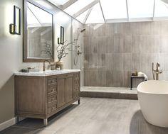 Same tile in shower as on main floor
