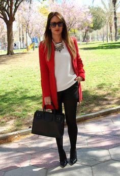 Mi nuevo abrigo rojo. | Chicisimo