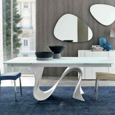 Wave Glass Tables & Tonin Casa Wave Glass Tables | YLiving