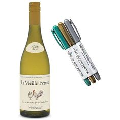 We don't sell wine but we think pairing our wine glass writers with a bottle of wine makes a great cottage gift.