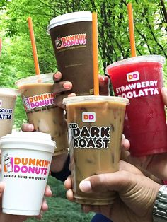 Dunkin' Donuts Offers Dairy-Free Almond Milk in Most Locations Almond Milk, Dunken Donuts, Best Iced Coffee, Blended Coffee, Dairy Free Starbucks Drinks, White Chocolate Syrup, Cinnamon Raisin Bagel