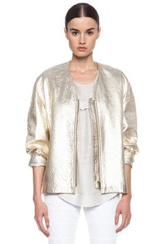 Isabel Marant leather jacket/Pale gold