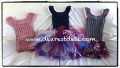 Crochet Dress - Little Miss Tutu Pattern by Dearest Debi