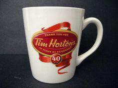 Tim Hortons Limited Edition Anniversary Mug Tim Hortons, 40th Anniversary, Ottawa, Good Old, Mornings, Canada, English, Mugs, Coffee