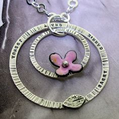 Family Tree Necklace with Flower  custom made with the names of your family by KathrynRiechert, $86.00