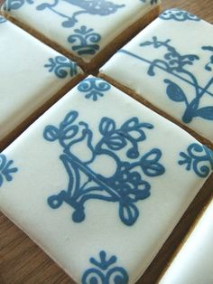 Delft Icing Cookie
