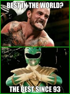 CM Punk vs The Green Ranger, Tommy Oliver (Jason David Frank). This is such a close call!
