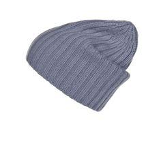 Ribbed Grey Cashmere Hat