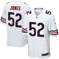 20b13907757 Men's Nike Chicago Bears #52 Christian Jones Game White NFL Jersey