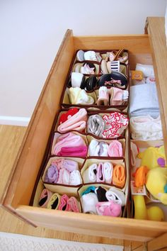 Fabric drawer organizers from the Dollar Store