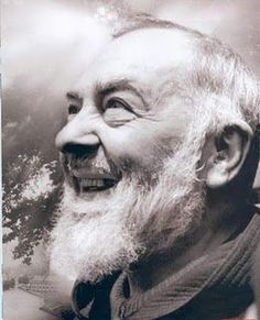 Saint Padre Pio, full of joy, even in the midst of suffering.