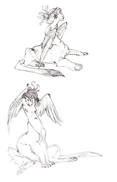 sphinxes || CHARACTER DESIGN REFERENCES | Find more at https://www.facebook.com/CharacterDesignReferences if you're looking for: #line #art #character #design #model #sheet #illustration #expressions #best #concept #animation #drawing #archive #library #reference #anatomy #traditional #draw #development #artist #pose #settei #gestures #how #to #tutorial #conceptart #modelsheet #cartoon #monster @Rachel Oberst Design References