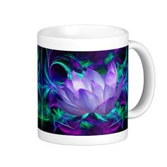 Purple lotus flower and its meaning classic white coffee mug