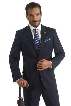 Mens Suit Modern Slim Fit Plaid Blue Men 3 Piece Suits M18010 ...