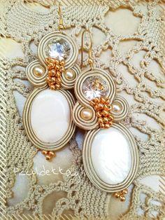 #soutache #piccolidettaglicreazioni #earrings #handmade #gold