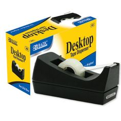 Desktop invisible tape dispenser.  This tape dispenser is your standard 1 inch scotch tape desktop tape dispenser. Use it to tape shut your envelopes or boxes that need to be securely closed, and to hold miscellaneous objects together.  This tape dispenser is durable and efficient. Along with being great for at home, this is ideal for every day use in offices and commercial workplaces.