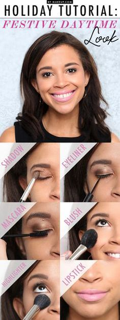 Holiday parties are upon us, but if you're looking for a daytime instead of an evening look, then this makeup tutorial is PERFECT. This winter eye makeup look is soft and natural. See how to do it here!